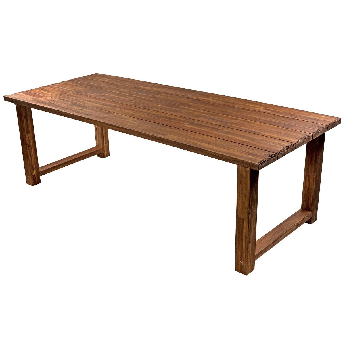 Стол MateraСтолы и столики для сада<br>Обеденный стол Matera изготовлен из акации. Фактура дерева искусственно состарена с добавлением эффекта жженого дерева. Требуется сборка.<br>Стол имеет внушительные размеры 2,4 на 1 м  и способен разместить даже  большую компанию.<br><br>Material: Дерево<br>Ширина см: 240<br>Высота см: 76<br>Глубина см: 100