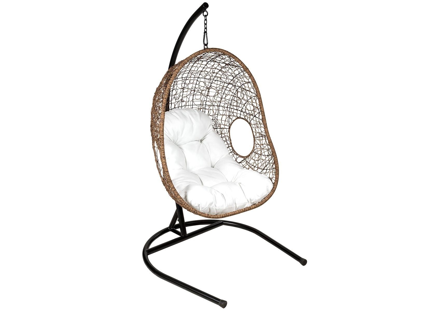 Подвесное кресло OrleanПодвесные кресла<br>Подвесное кресло Orlean из искусственного 5-мм круглого ротанга коричневого цвета на стальном каркасе. Подушка включена в стоимость.<br><br>Material: Искусственный ротанг<br>Ширина см: 88<br>Высота см: 183<br>Глубина см: 71