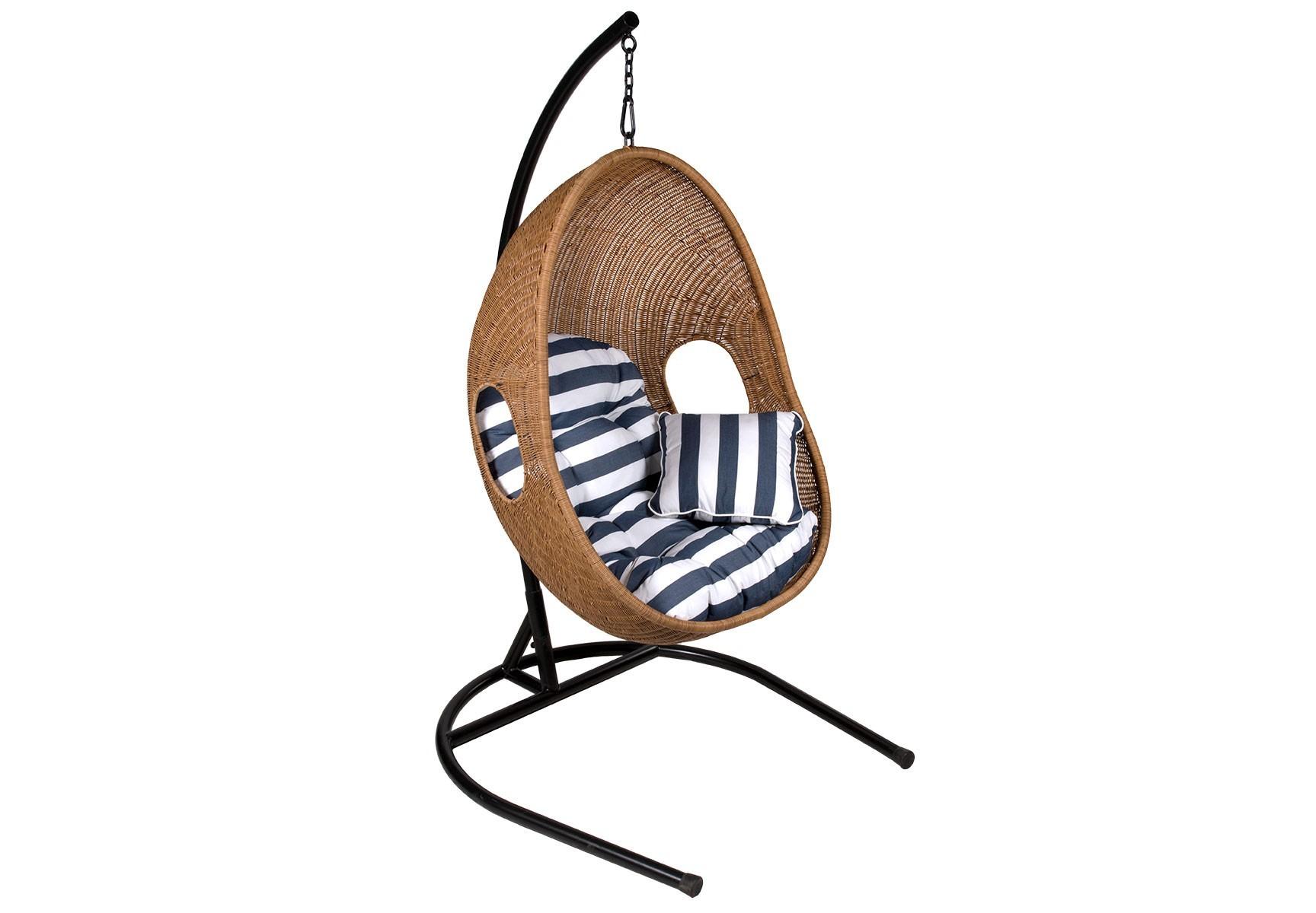 Подвесное кресло EagleПодвесные кресла<br>Подвесное кресло Eagle из искусственного 2,5-мм ротанга коричневого цвета на стальном каркасе. Подушка включена в стоимость.&amp;amp;nbsp;<br><br>Material: Искусственный ротанг<br>Length см: None<br>Width см: 88<br>Depth см: 71<br>Height см: 183