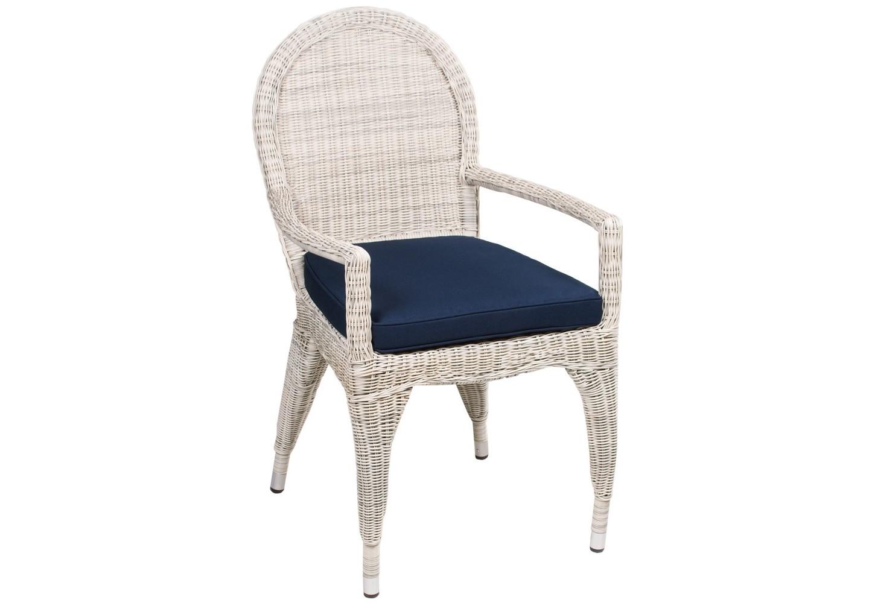 Кресло HagaКресла для сада<br>Поистине королевское кресло Haga! Его изящный дизайн напоминает нам о временах королей, а его удобство позволяет почувствовать себя королем! Не требуется сборка. Коллекция мебели Haga<br><br>Material: Ротанг<br>Length см: None<br>Width см: 55<br>Depth см: 60<br>Height см: 80