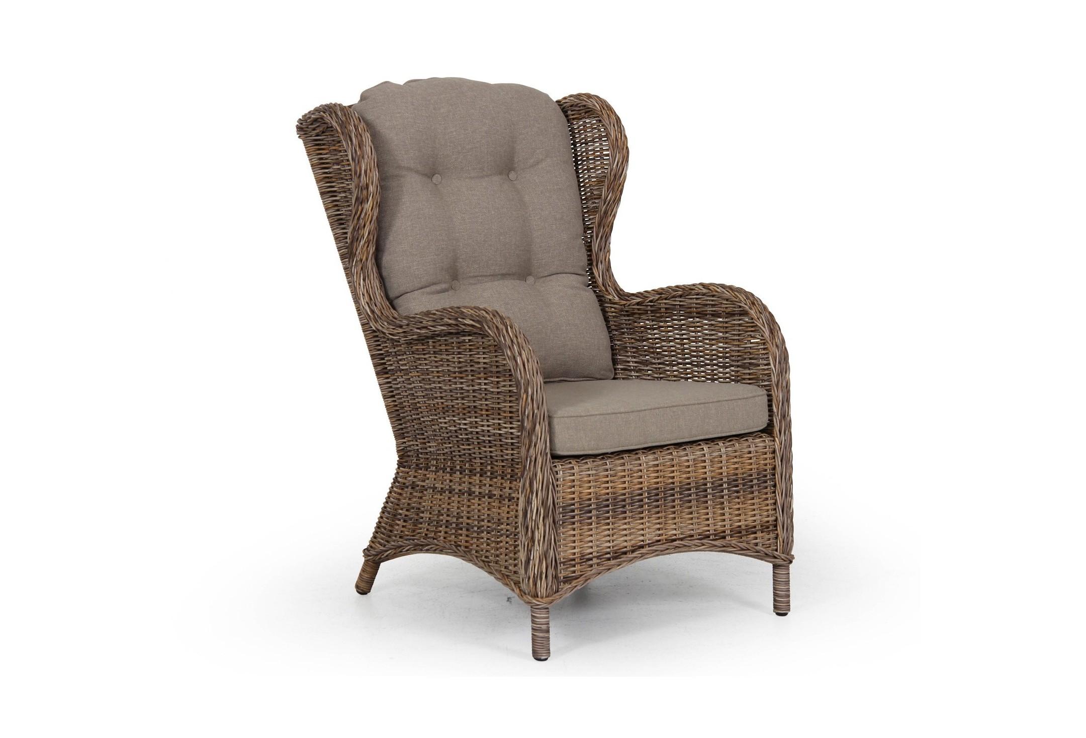 Подушка для кресла EvitaКресла для сада<br>Подушка Evita выполнена из материала олефина. Середина подушки имеет пуговки. Производится в бело-сером, бежевом, темно-бежевом, сером и черном цвете. Прекрасное дополнение к  креслу Evita. Не требуется сборка. Коллекция мебели Evita<br><br>Material: Текстиль<br>Length см: None<br>Width см: 66<br>Depth см: 61<br>Height см: 102