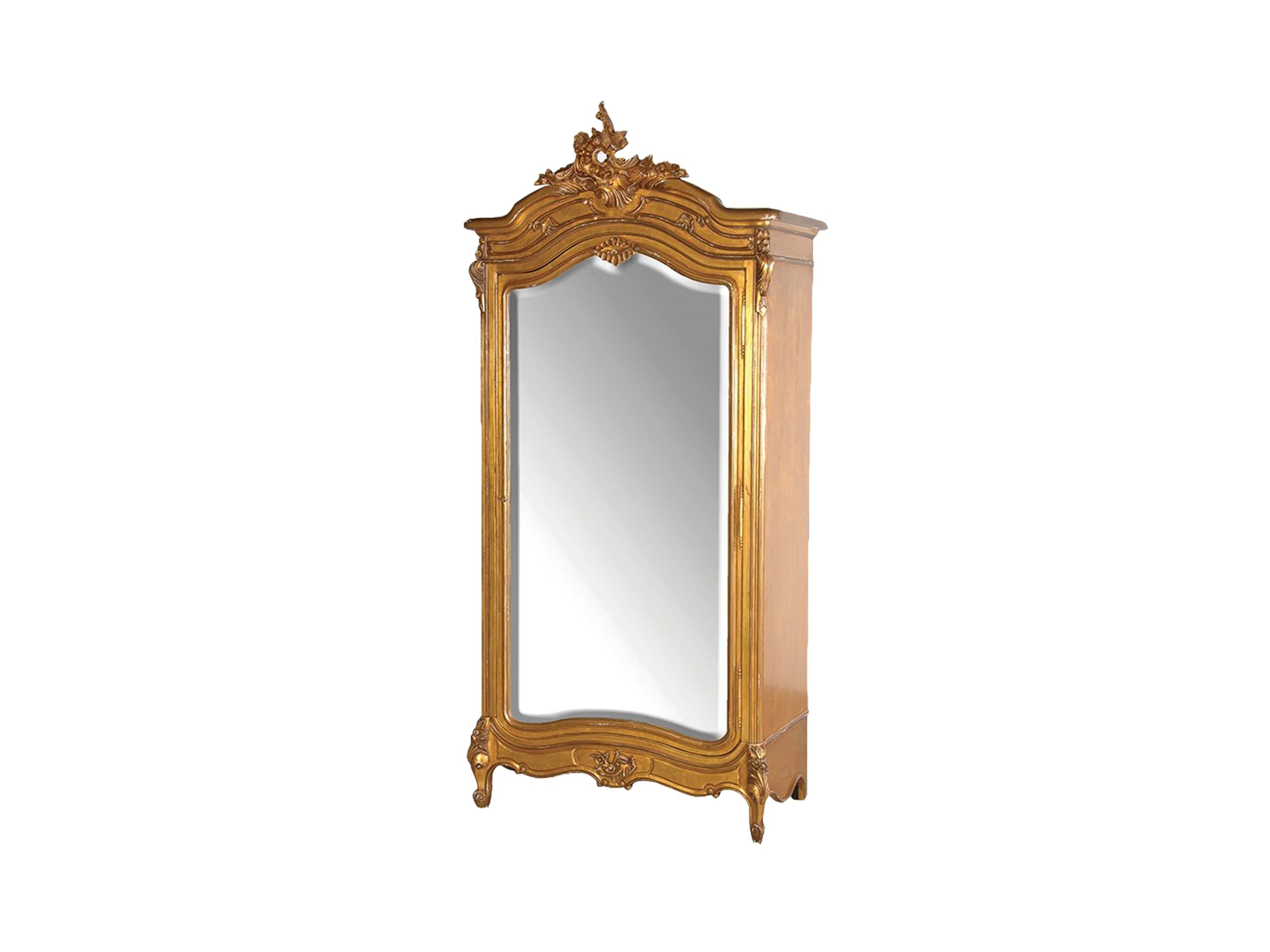Шкаф платянойПлатяные шкафы<br>Платяной шкаф с зеркалом, декорирован резьбой ручной работы, искусственным старением и темной патиной.<br><br>Material: Красное дерево<br>Width см: 110<br>Depth см: 59<br>Height см: 238