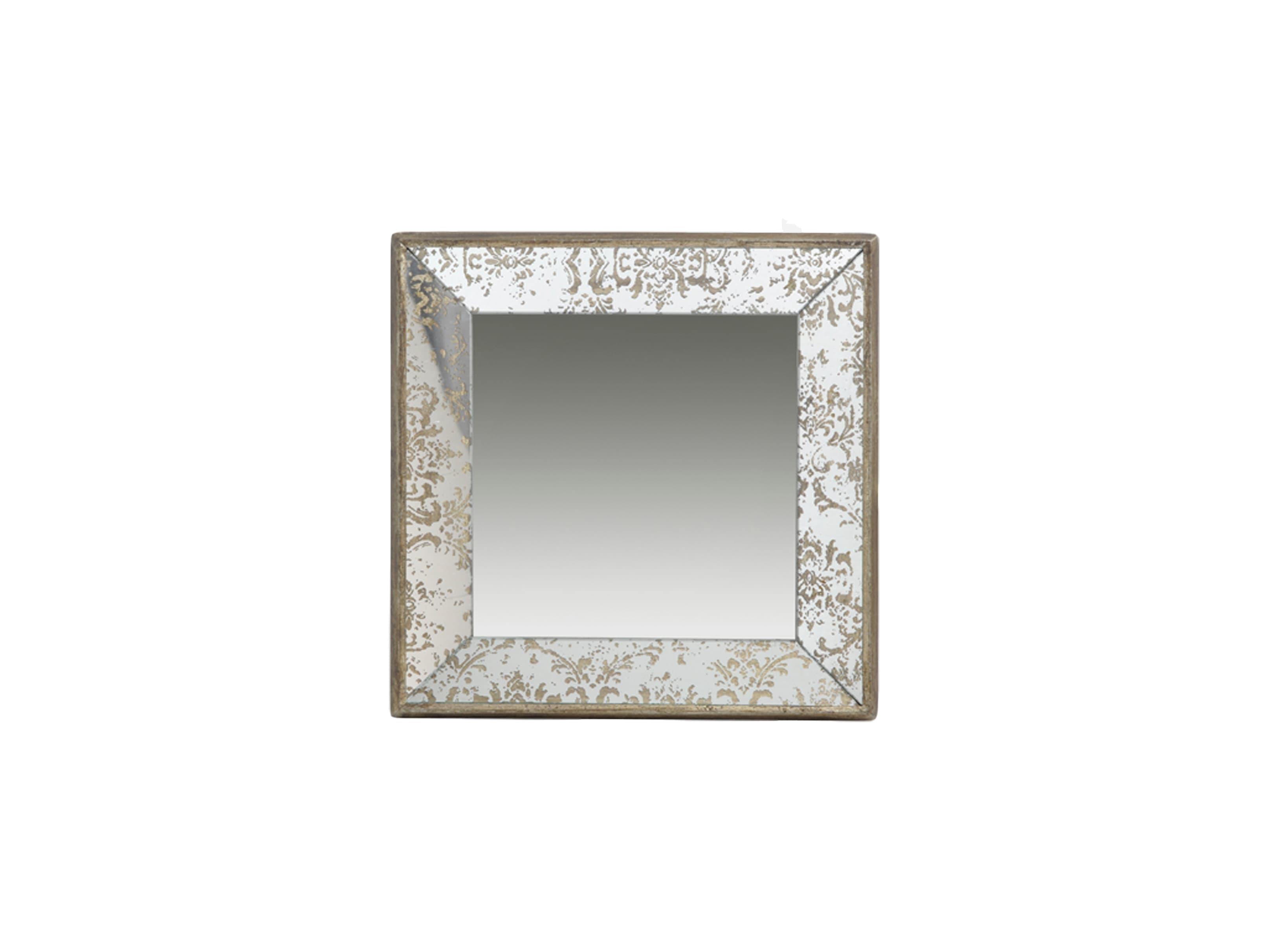 Зеркало-подносНастенные зеркала<br>Зеркало настенное квадратное с декорированной рамкой.Можно использовать в качестве подноса.<br><br>Material: Стекло