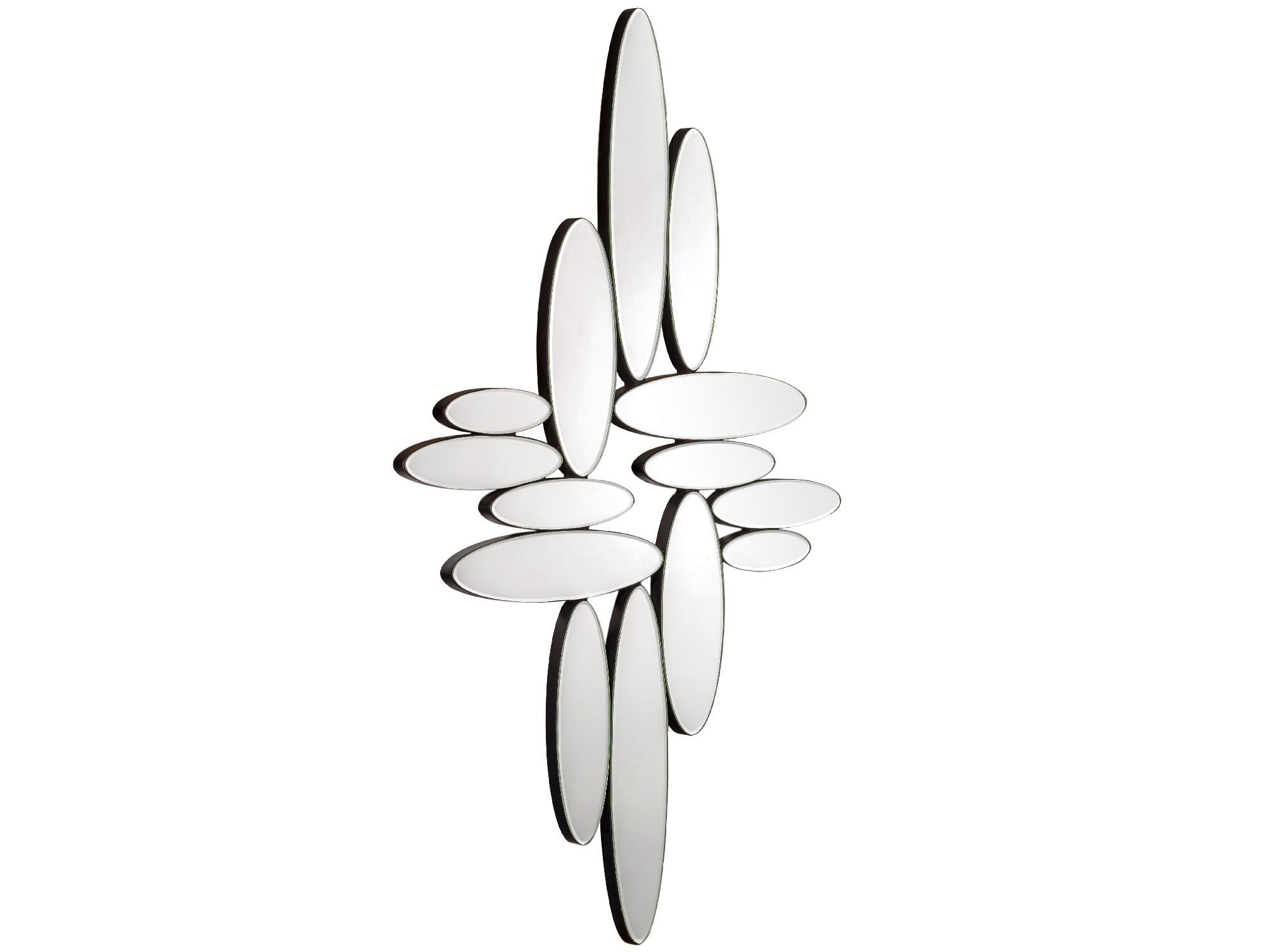 Декоративное зеркало CosmicНастенные зеркала<br>Зеркало &amp;quot;Cosmic&amp;quot; ? настоящий арт-объект, который превосходно впишется в современные интерьеры. Обтекаемые формы, составленные множеством овальных элементов, прекрасны в своем эклектичном естестве. Композиция специально лишена отделки, ведь главный акцент в ней делается на уникальных пропорциях. Хаотичные и гармоничные в своей асимметрии, они завораживают и притягивают взгляд. В любовании космическими, немного эпатажными очертаниями можно обрести настоящее блаженство...<br><br>Material: Стекло<br>Width см: 66<br>Depth см: 5