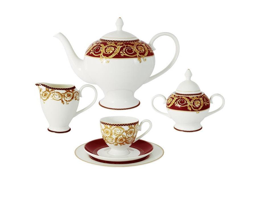 Чайный сервиз  21 предмет на 6 персон ВенецияЧайные сервизы<br><br><br>Material: Фарфор