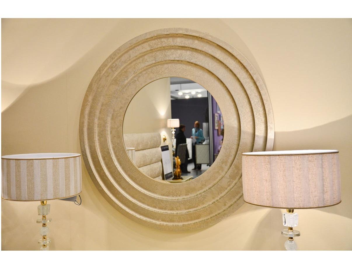 Зеркало круглое Galiano pasionНастенные зеркала<br>Зеркало выполнено из высококачественного мдф высокой плотности.<br><br>Material: Стекло<br>Depth см: 5<br>Diameter см: 90