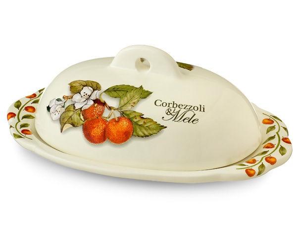 Маслёнка Итальянские фруктыЕмкости для хранения<br><br><br>Material: Керамика<br>Ширина см: 19<br>Глубина см: 11