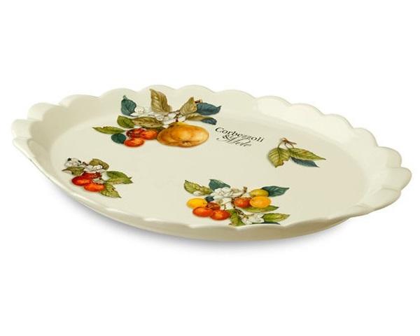 Блюдо Итальянские фруктыДекоративные блюда<br><br><br>Material: Керамика<br>Width см: 39<br>Depth см: 27<br>Height см: 6