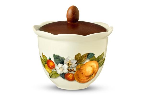 Банка для сыпучих продуктов Итальянские фруктыЕмкости для хранения<br>Объем: 0,8 л.<br><br>Material: Керамика<br>Высота см: 17