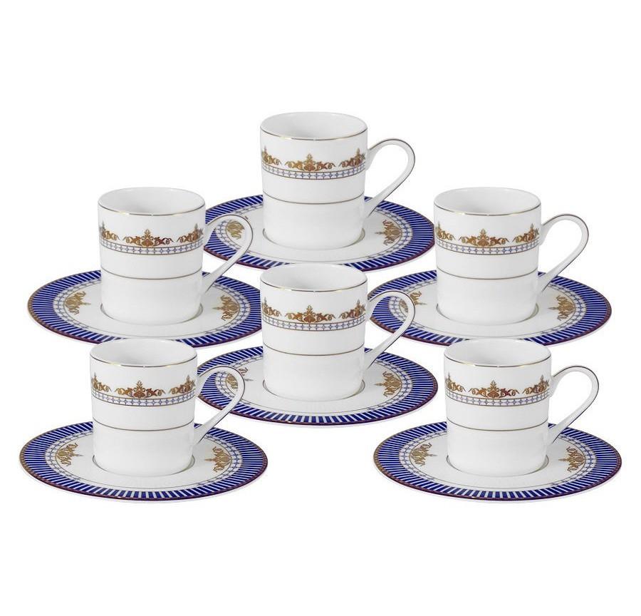 Кофейный набор Флагман (6шт.)Кофейные сервизы<br>Объем: 0,1 л.<br><br>Material: Фарфор