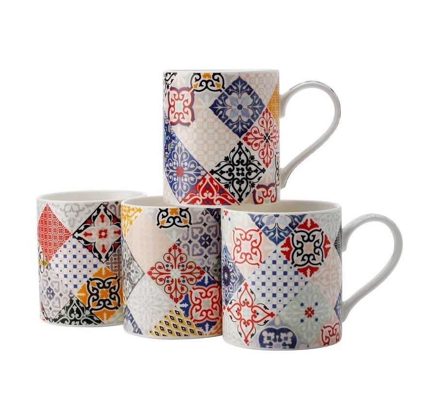 Набор кружек Марракеш (4шт.)Чайные пары, чашки и кружки<br>Объем: 0,38 л.<br><br>Material: Фарфор