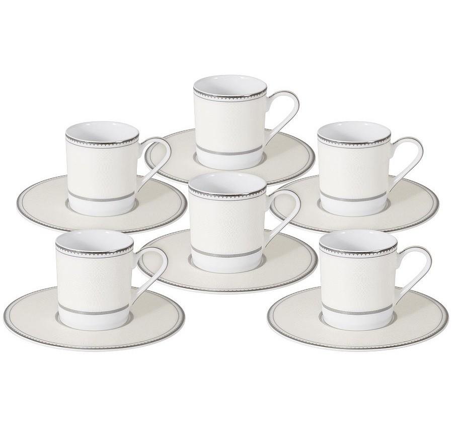 Кофейный набор Жемчуг (6шт.)Кофейные сервизы<br>Объем: 0,1 л.<br><br>Material: Фарфор