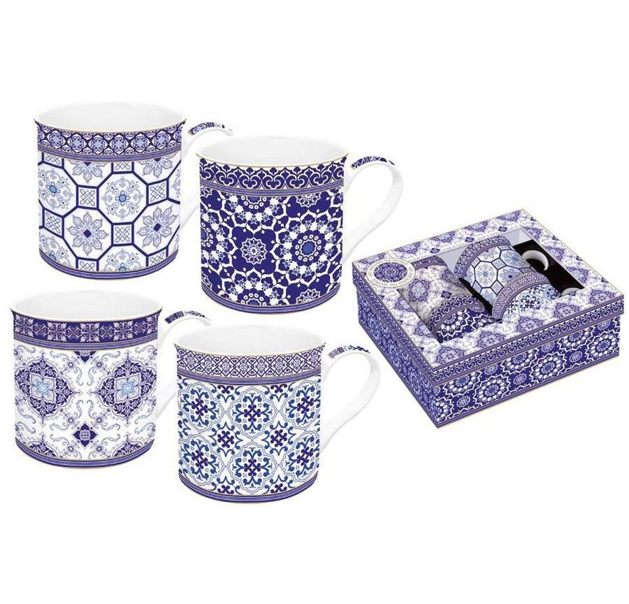 Набор кружек Изразцы (4шт.)Чайные пары, чашки и кружки<br>Объем: 0,3 л.<br><br>Material: Фарфор
