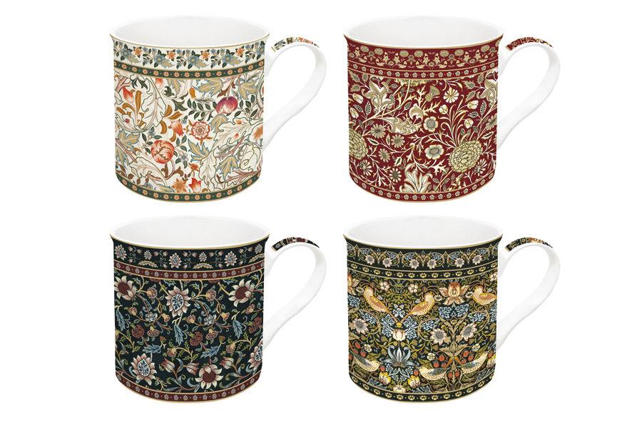 Набор кружек Гобелен (4шт.)Чайные пары, чашки и кружки<br>Объем: 0,3 л.<br><br>Material: Фарфор