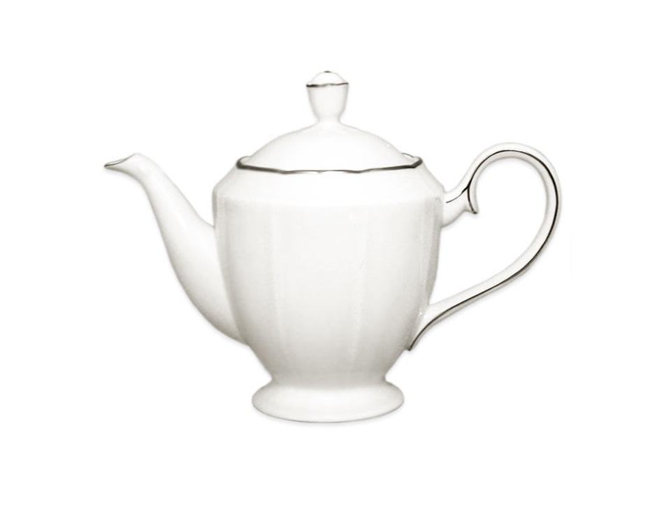 Чайник с крышкой Серебряный лотосЧайники<br>Объем: 0,8 л.<br><br>Material: Фарфор