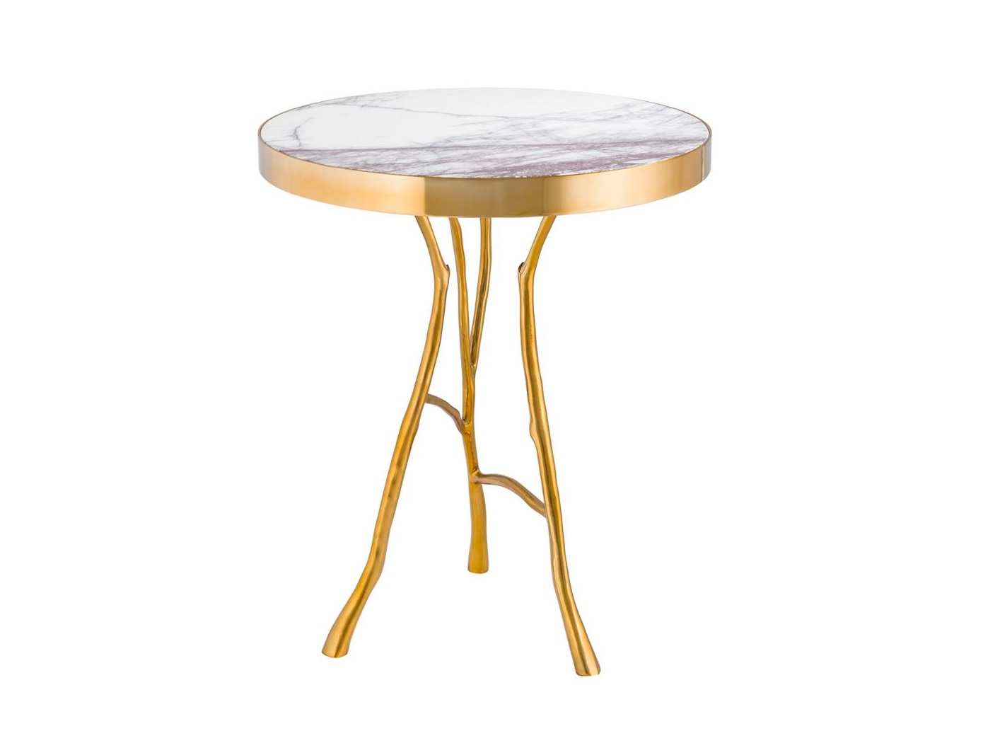 Столик Side Table VeritasКофейные столики<br><br><br>Material: Мрамор<br>Height см: 58<br>Diameter см: 50
