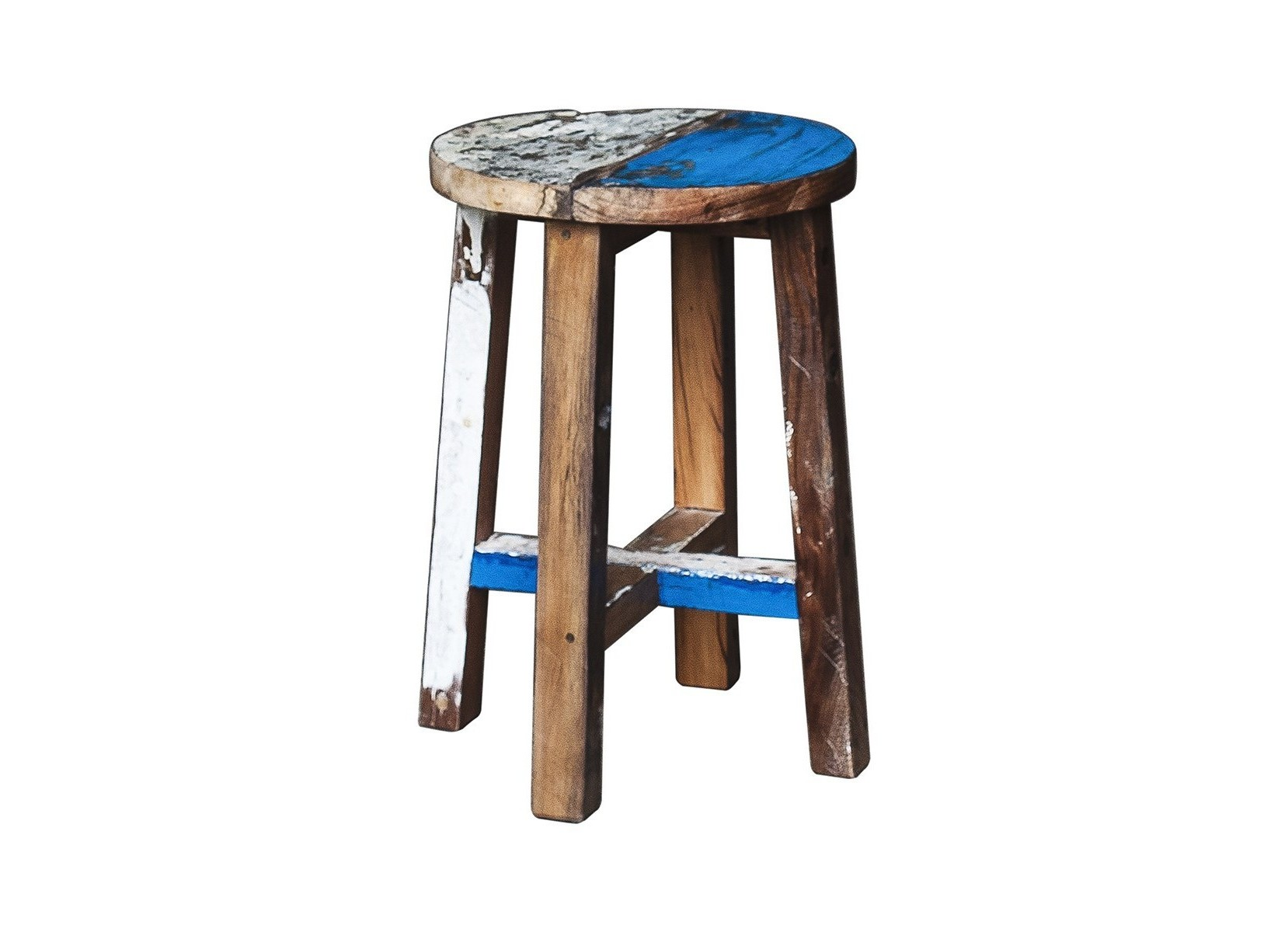 Табурет КингТабуреты<br>Табурет, выполненный из массива древесины старого рыбацкого судна, такой как: тик, махогон, суар, с сохранением оригинальной многослойной окраски.<br><br>Компактный размер делает его идеальным для небольших пространств.<br>Подходит для использования как внутри помещения, так и снаружи.<br>Сборка не требуется.<br>Страна производитель - Индонезия.<br><br>Material: Тик<br>Ширина см: 30<br>Высота см: 45<br>Глубина см: 30