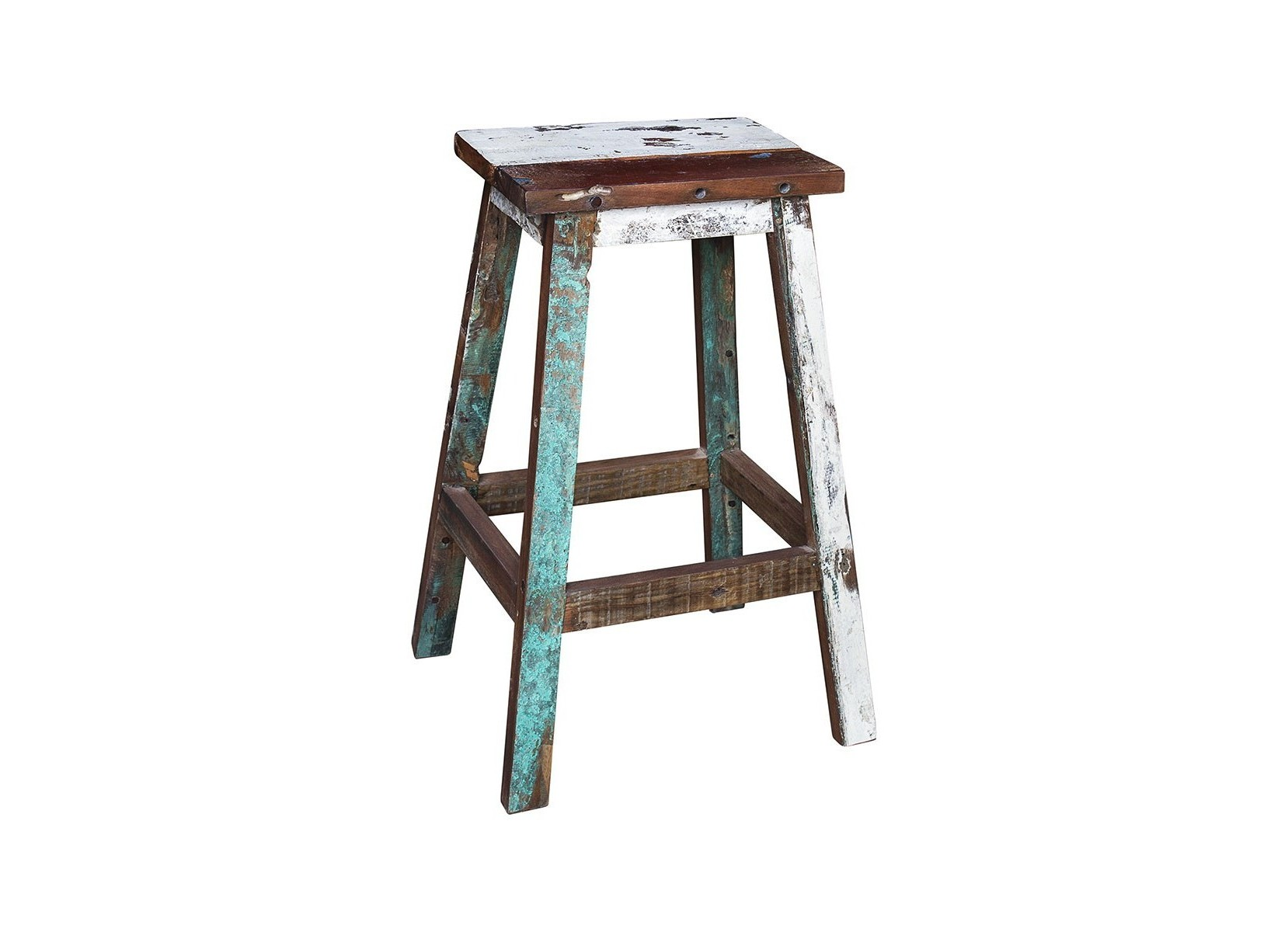 Барный стул ЛомоносовБарные стулья<br>Стул барный, выполненный из массива древесины старого рыбацкого судна, такой как: тик, махогон, суар, с сохранением оригинальной многослойной окраски.<br><br>Компактный барный стул без спинки. Отличный вариант для баров, ресторанов, кафе, а также для жилых пространств.<br>Подходит для использования как внутри помещения, так и снаружи.<br>Сборка не требуется.<br>Страна производитель - Индонезия.<br><br>Material: Тик<br>Width см: 40<br>Depth см: 30<br>Height см: 75