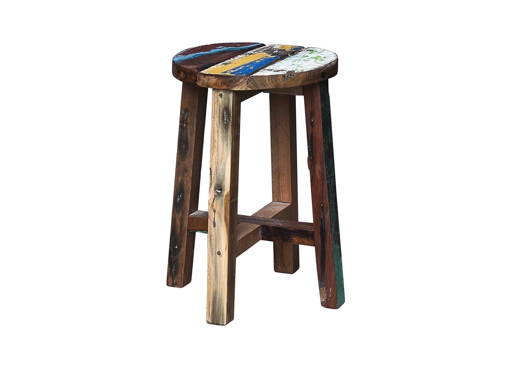 Табурет КингТабуреты<br>Табурет, выполненный из массива древесины старого рыбацкого судна, такой как: тик, махогон, суар, с сохранением оригинальной многослойной окраски.<br><br>Компактный размер делает его идеальным для небольших пространств.<br>Подходит для использования как внутри помещения, так и снаружи.<br>Сборка не требуется.<br>Страна производитель - Индонезия.<br><br>Material: Тик<br>Ширина см: 30.0<br>Высота см: 45.0<br>Глубина см: 30.0