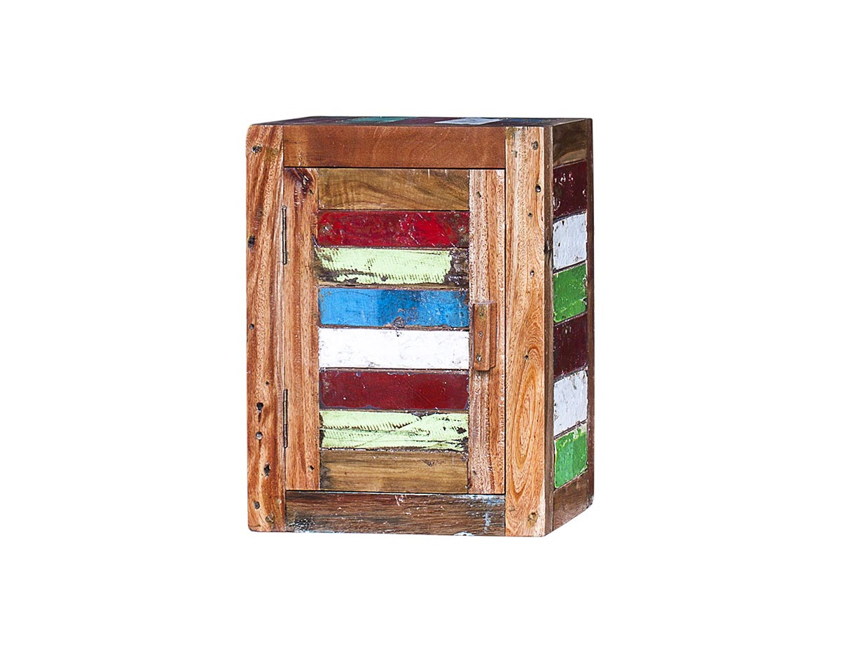 Навесной шкаф БендерПолки<br>Навесной шкаф, выполненный из массива древесины старого рыбацкого судна с сохранением оригинальной многослойной окраски.<br><br>Имеет 2 полки и 1 открывающуюся дверцу, открывающуюся вправо.<br>Подходит для использования как внутри помещения, так и снаружи.<br>Сборка не требуется.<br>Страна производитель - Индонезия.<br><br>Material: Тик<br>Ширина см: 40<br>Высота см: 50<br>Глубина см: 20