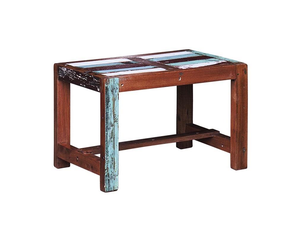 Детский стол Винни-пухДетские письменные столики<br>Стол детский. Выполнен из массива древесины старого рыбацкого судна с сохранением оригинальной многослойной окраски.<br><br>Можно приобрести отдельно стул или комплект (стол и 2 стула).<br><br>Подходит для использования как внутри помещения, так и снаружи.<br>Сборка не требуется.<br>Страна производитель - Индонезия.<br><br>Material: Тик<br>Ширина см: 60<br>Высота см: 40<br>Глубина см: 40