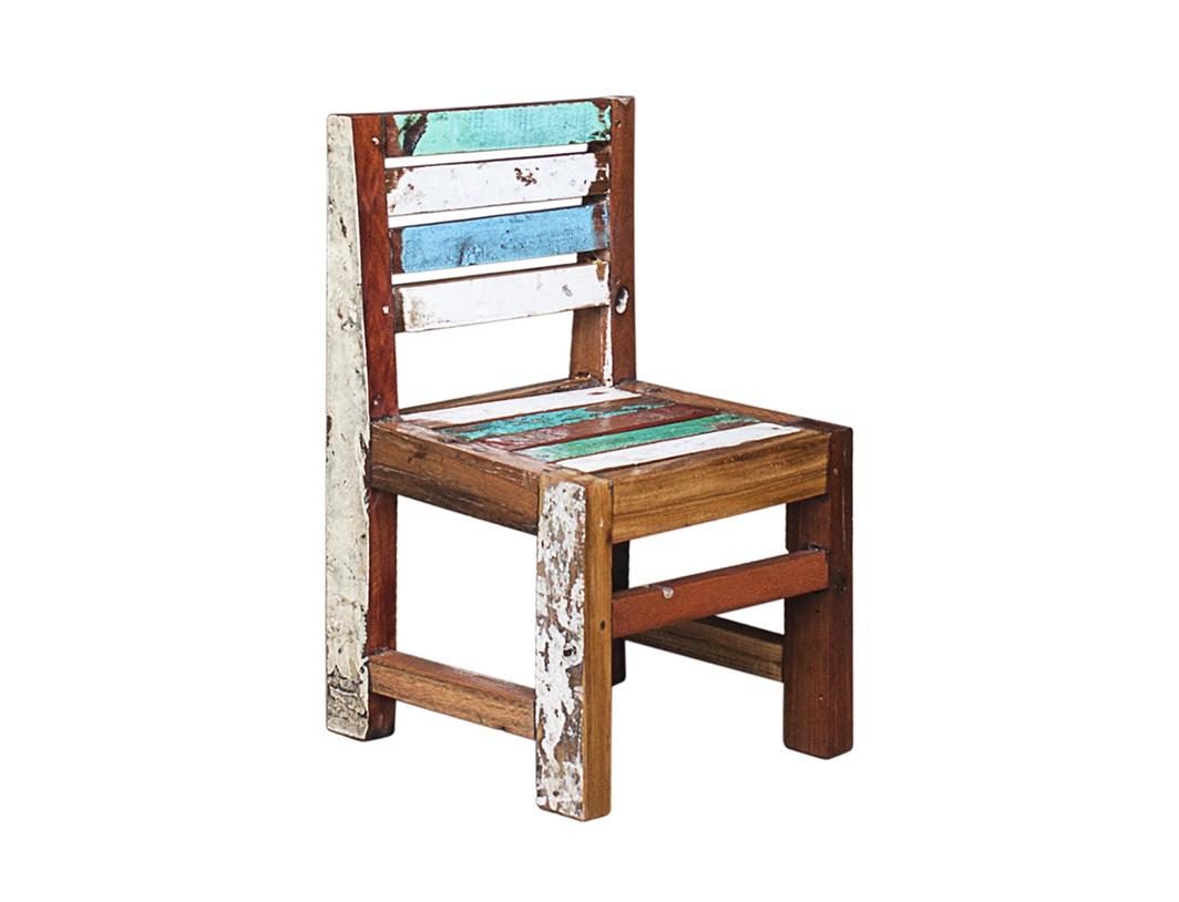 Детский стул ПятачокДетские стулья<br>Стул детский. Выполнен из массива древесины старого рыбацкого судна с сохранением оригинальной многослойной окраски.<br><br>Можно приобрести отдельно стол или комплект (стол и 2 стула).<br><br>Подходит для использования как внутри помещения, так и снаружи.<br>Сборка не требуется.<br>Страна производитель - Индонезия.<br><br>Material: Тик<br>Width см: 40<br>Depth см: 40<br>Height см: 55