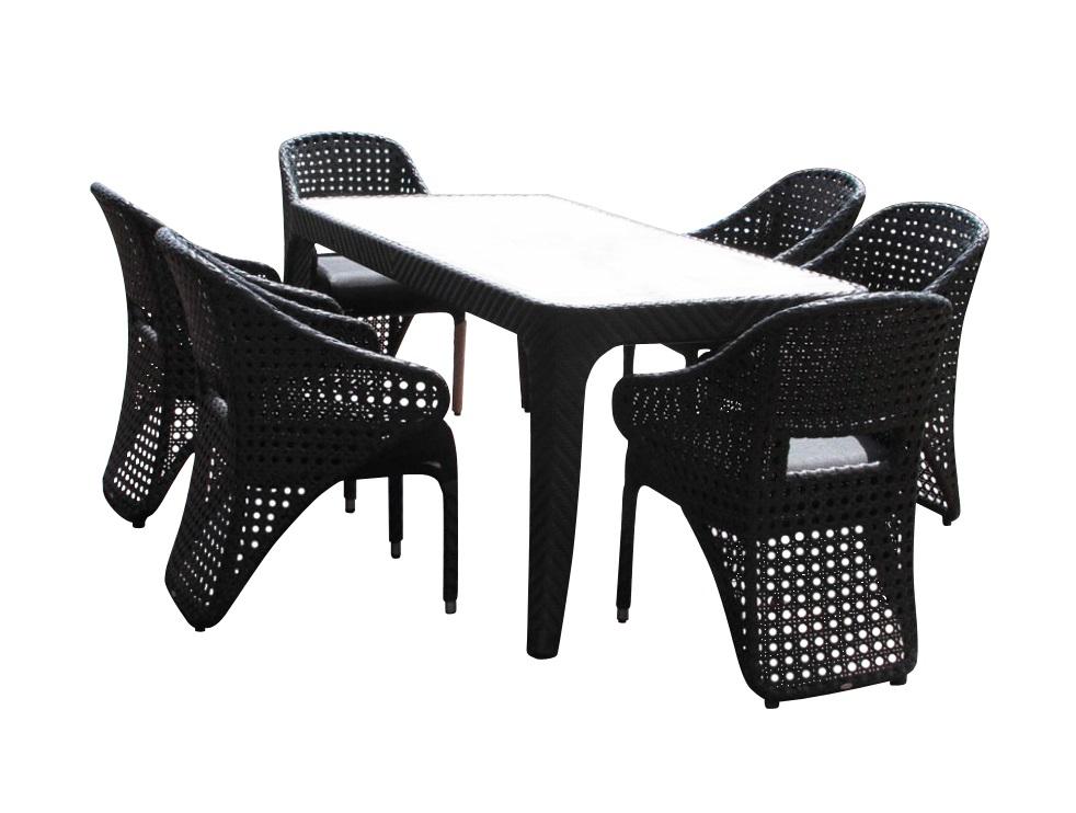 Комплект дачной мебели CHILD (стол + 6 кресел)Комплекты уличной мебели<br>&amp;lt;div&amp;gt;&amp;lt;span style=&amp;quot;line-height: 1.78571;&amp;quot;&amp;gt;Обеденная группа CHILD- превосходно вписывается в обстановку как загородного дома, так как рассчитана на использование на открытом воздухе, а также и городских апартаментов. Вы с удобством расположитесь за столом и насладитесь обедом на свежем воздухе или просто отдыхом.&amp;amp;nbsp;&amp;lt;/span&amp;gt;&amp;lt;br&amp;gt;&amp;lt;/div&amp;gt;&amp;lt;div&amp;gt;&amp;lt;span style=&amp;quot;line-height: 1.78571;&amp;quot;&amp;gt;&amp;lt;br&amp;gt;&amp;lt;/span&amp;gt;&amp;lt;/div&amp;gt;&amp;lt;div&amp;gt;Комплектация: Комплект мебели включает в себя стол и шесть стульев. Рама стульев и стола изготавливается из алюминия. Сиденье стульев выполнено из материала textilene - столешница из ценного дерева тика.&amp;lt;/div&amp;gt;&amp;lt;div&amp;gt;&amp;lt;br&amp;gt;&amp;lt;/div&amp;gt;&amp;lt;div&amp;gt;&amp;lt;span style=&amp;quot;line-height: 1.78571;&amp;quot;&amp;gt;СТУЛЬЯ CHILD:&amp;lt;/span&amp;gt;&amp;lt;br&amp;gt;&amp;lt;/div&amp;gt;&amp;lt;div&amp;gt;Размеры: 60х61х88 см&amp;lt;/div&amp;gt;<br><br>Material: Искусственный ротанг<br>Ширина см: 202<br>Высота см: 75<br>Глубина см: 101