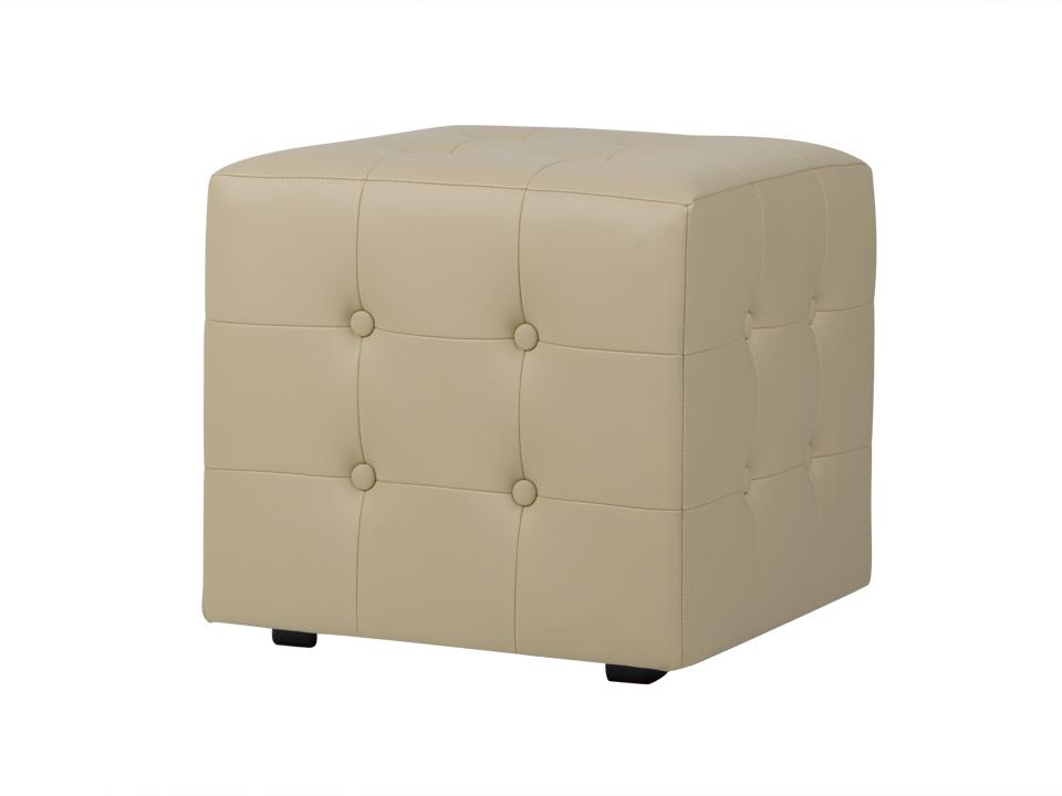 Пуф RubikКожаные пуфы<br>Каркасный пуф с декоративной строчкой и пуговицами.<br><br>Material: Экокожа<br>Ширина см: 43<br>Высота см: 43<br>Глубина см: 43