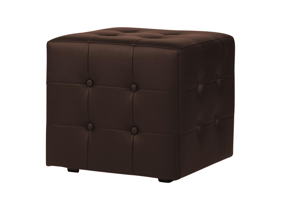 Пуф RubikКожаные пуфы<br>Каркасный пуф с декоративной строчкой и пуговицами.<br><br>Material: Экокожа<br>Width см: 43<br>Depth см: 43<br>Height см: 43