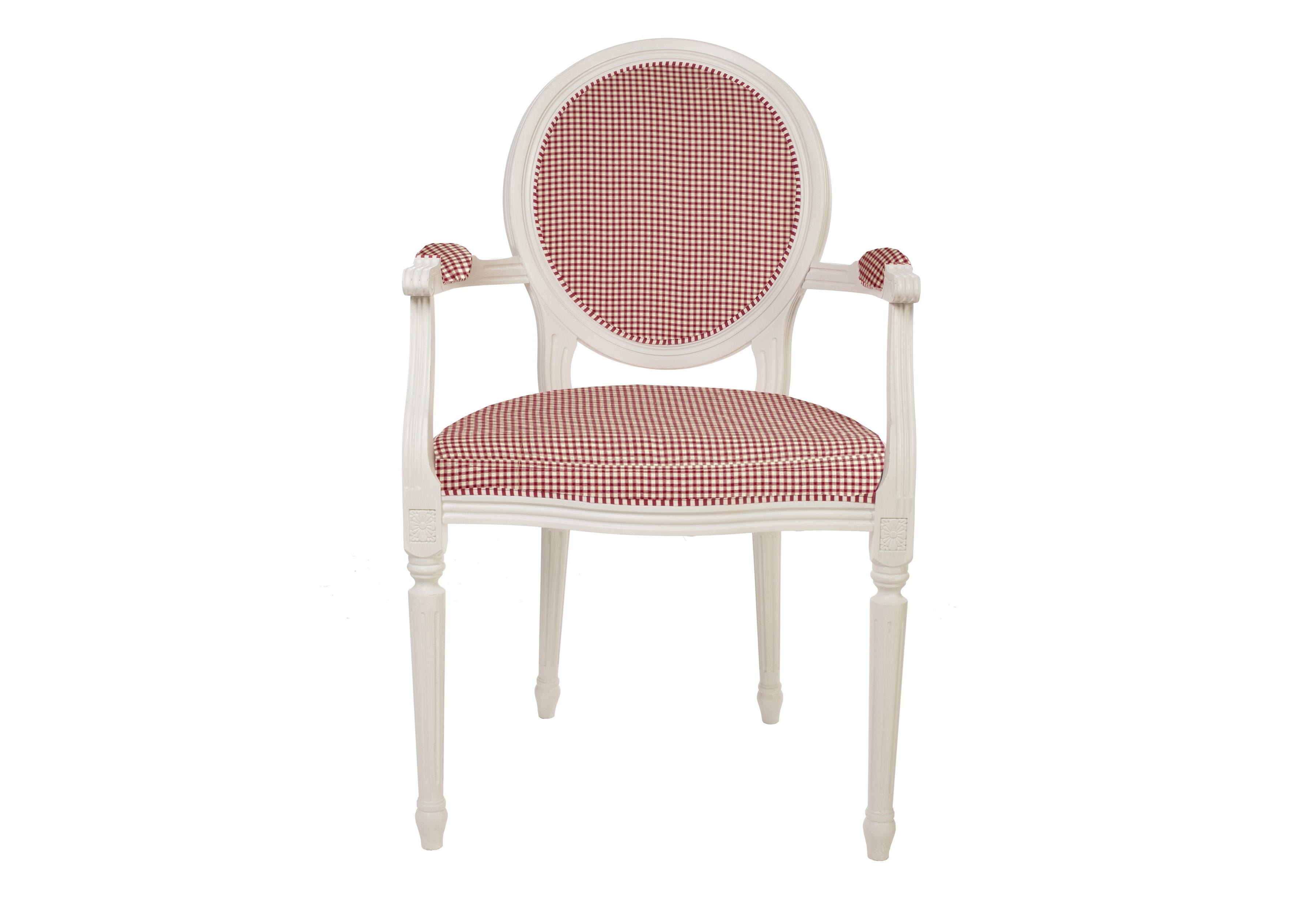 Кресло с обивкой в клетку