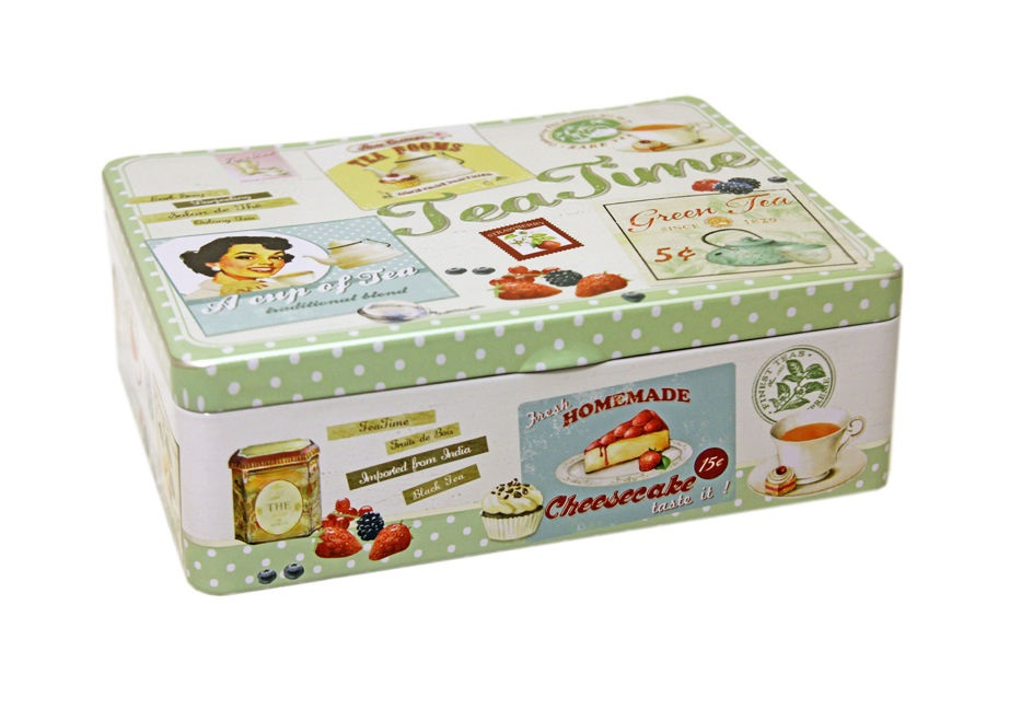 Коробка для чайных пакетиков ВинтажЕмкости для хранения<br><br><br>Material: Металл<br>Width см: 20,5<br>Depth см: 16<br>Height см: 7