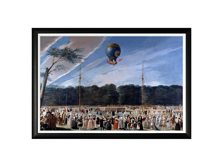 Картина «Взлет воздушного шара»Картины<br>Арт-постер «Взлет воздушного шара» - репродукция полотна, изображающего полет пилотируемого шара братьев Монгольфье. Придворный художник королей Карла IV и Жозефа Бонапарта, вдохновленный восторгом небесного простора, создал поразительный сюжет, стирающий грани между реальностью и вымыслом. Четкая геометрическая форма и строгий цвет рамы - секрет гармонии арт-постеров с современными интерьерами. Белая внутренняя кайма рамы внушает портрету особую выразительность.<br><br>Material: Бумага<br>Width см: 66<br>Depth см: 2<br>Height см: 45