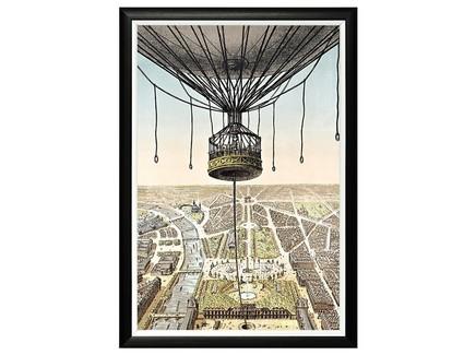 Картина «париж с высоты птичьего полета» (object desire) черный 46x46x66 см.