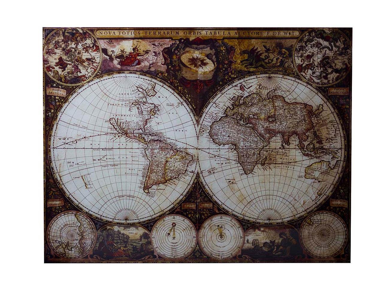 Панно Карта мираПанно<br><br><br>Material: МДФ<br>Width см: 98<br>Depth см: 1<br>Height см: 68