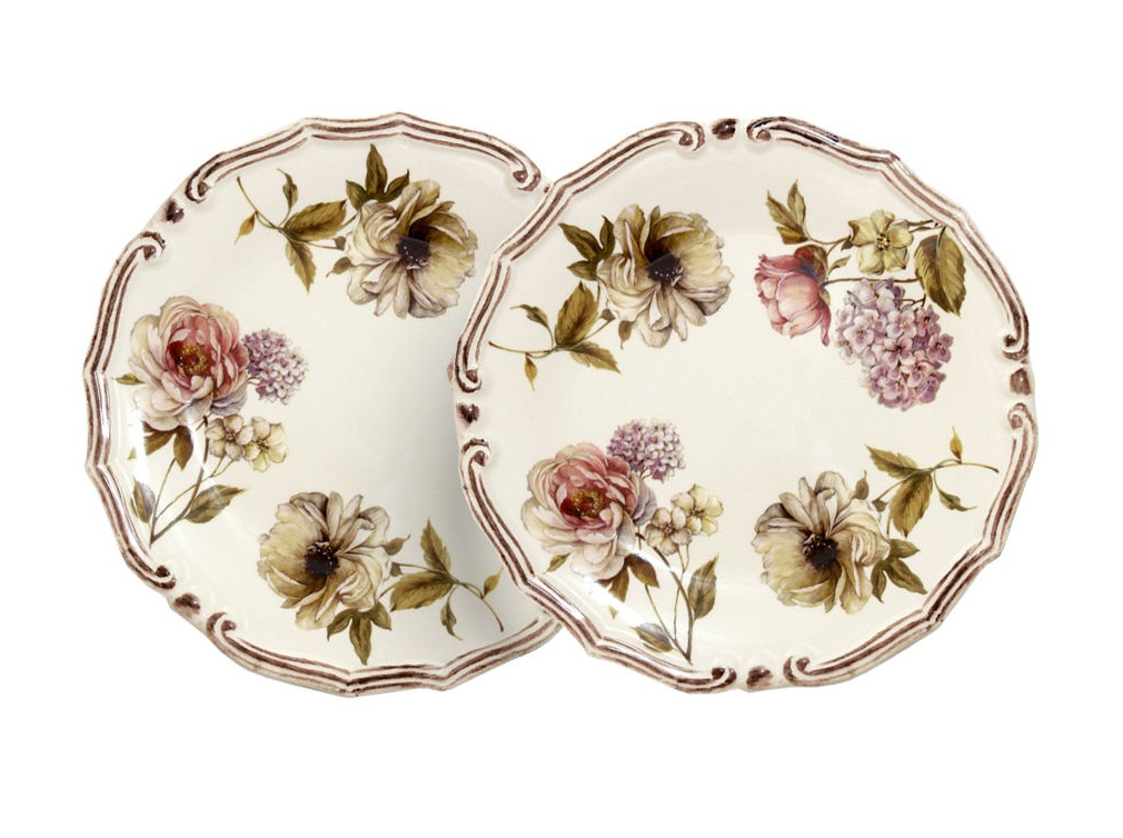 Набор из двух десертных тарелок Сады ФлоренцииТарелки<br><br><br>Material: Керамика<br>Length см: None<br>Height см: 2<br>Diameter см: 20.5