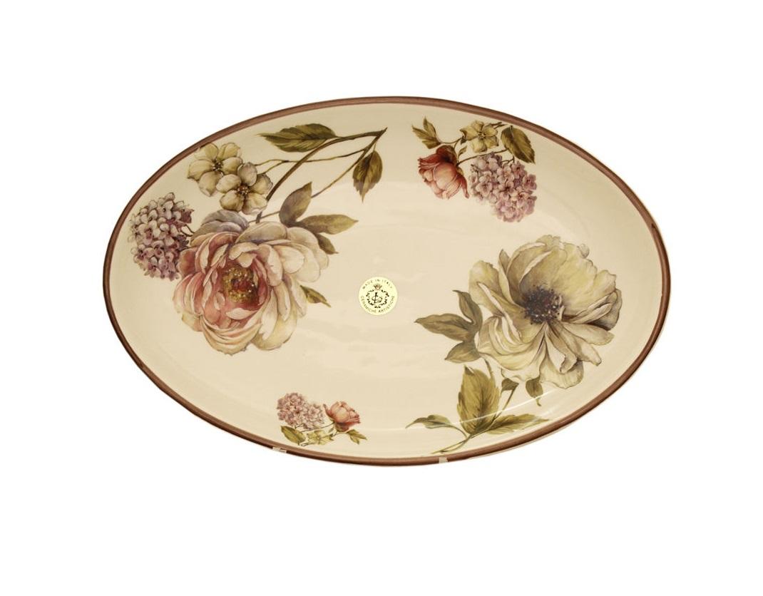 Блюдо овальное Сады ФлоренцииДекоративные блюда<br><br><br>Material: Керамика<br>Width см: 36<br>Depth см: 24<br>Height см: 1.5