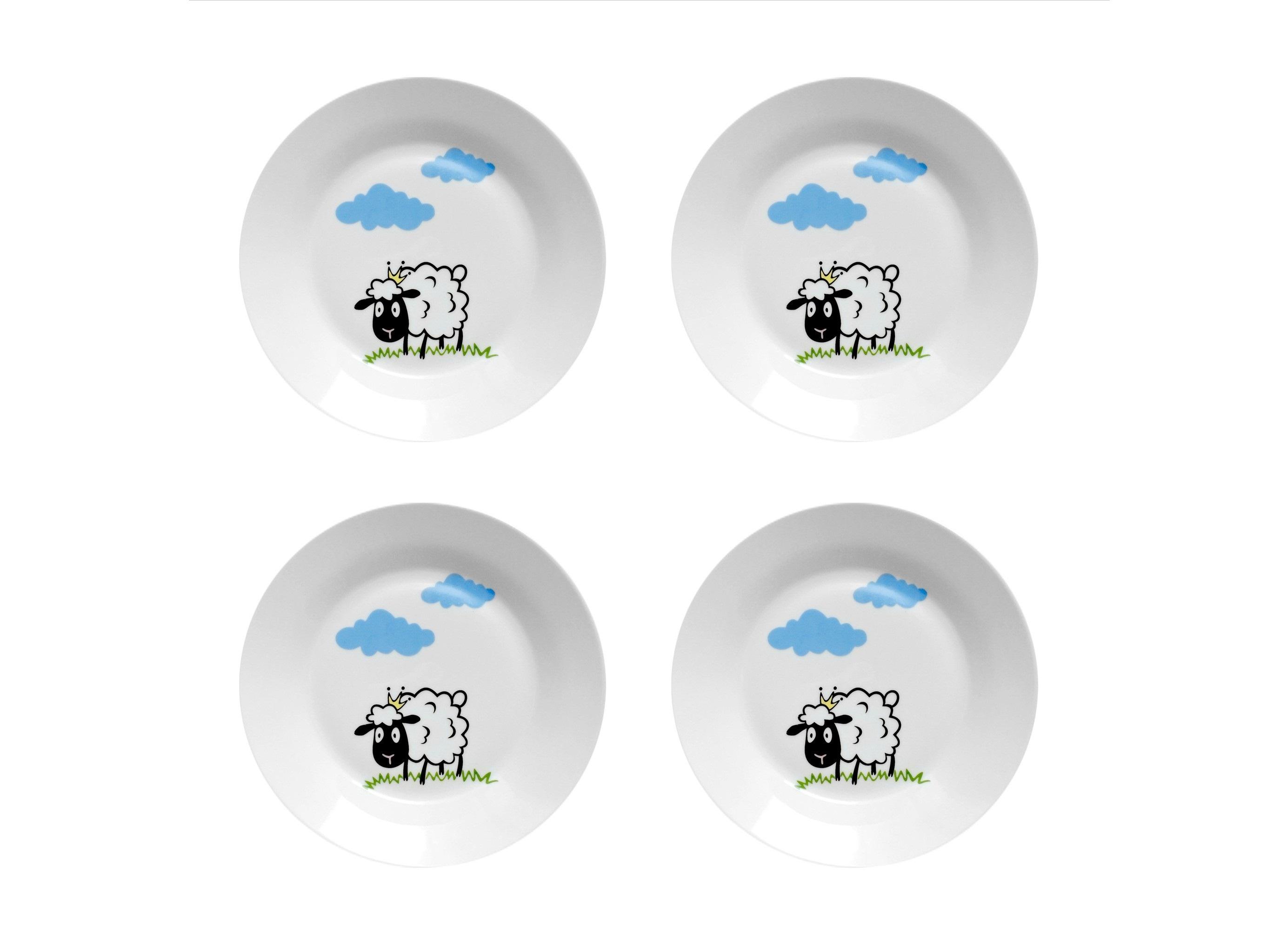 Набор тарелок Долли (4 шт)Тарелки<br>Посуду можно использовать в микроволновой печи и посудомоечной машине.&amp;amp;nbsp;&amp;lt;div&amp;gt;В комплект входят: Тарелка 20 см - 4 шт.&amp;lt;/div&amp;gt;<br><br>Material: Фарфор