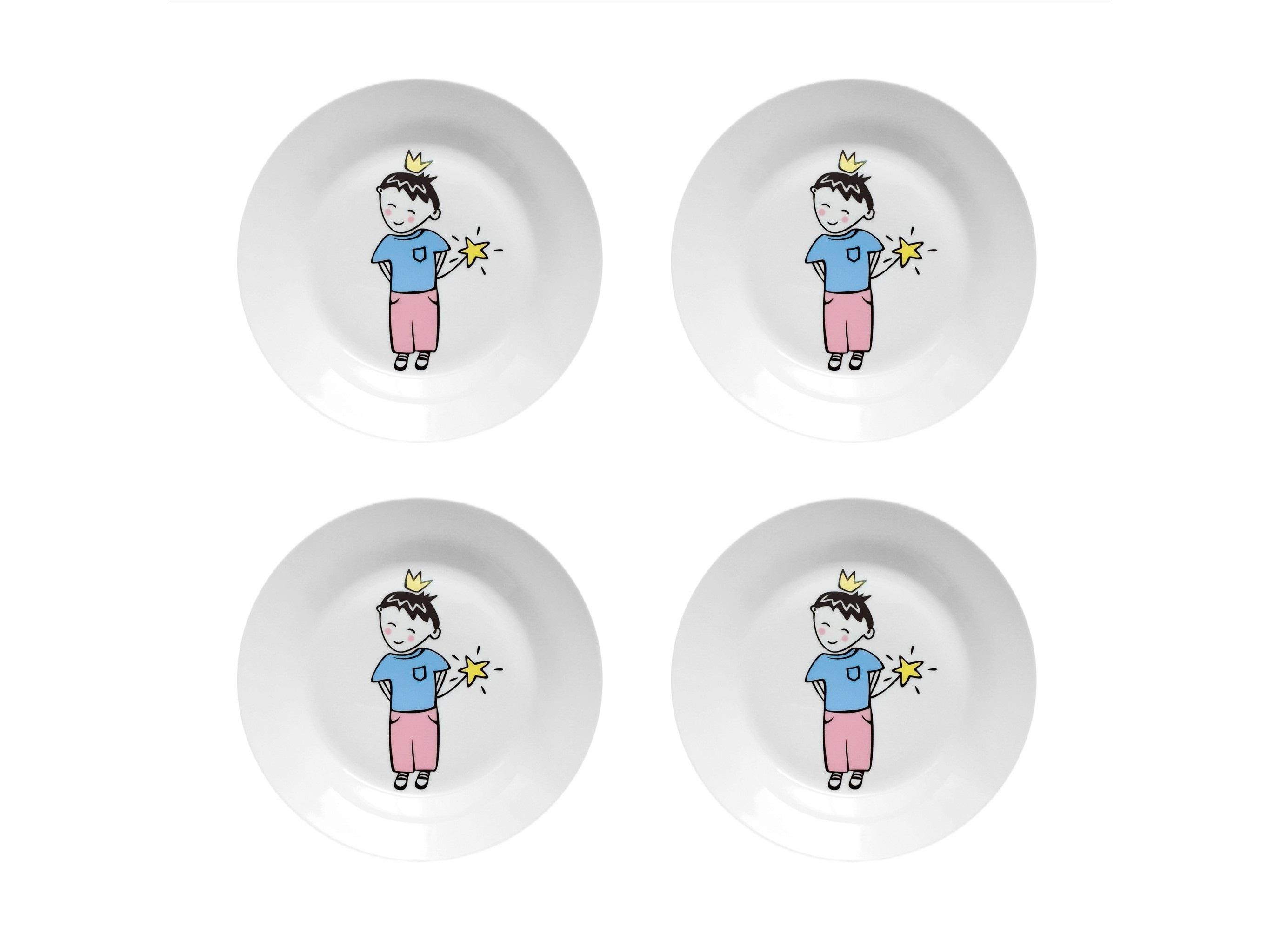 "Набор тарелок ""Маленький король"" (4 шт)"