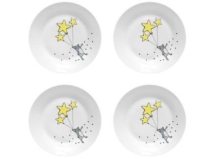 """Набор тарелок """"Звездный мишка"""" (4 шт)"""