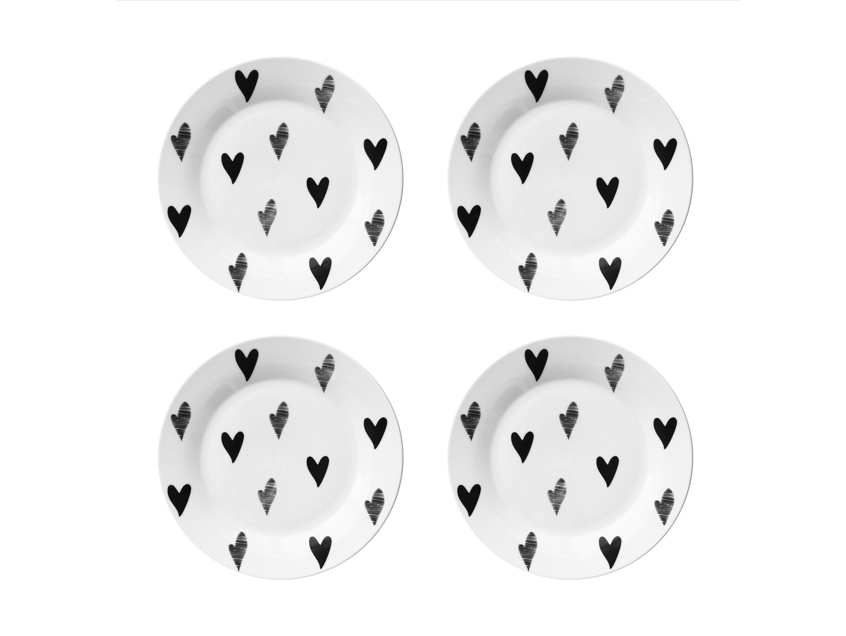 Набор тарелок Маленькое сердце Vol.2 (4 шт)Тарелки<br>Посуду можно использовать в микроволновой печи и посудомоечной машине.&amp;amp;nbsp;&amp;lt;div&amp;gt;В комплект входят: Тарелка 20 см - 4 шт.&amp;lt;/div&amp;gt;<br><br>Material: Фарфор<br>Diameter см: 20