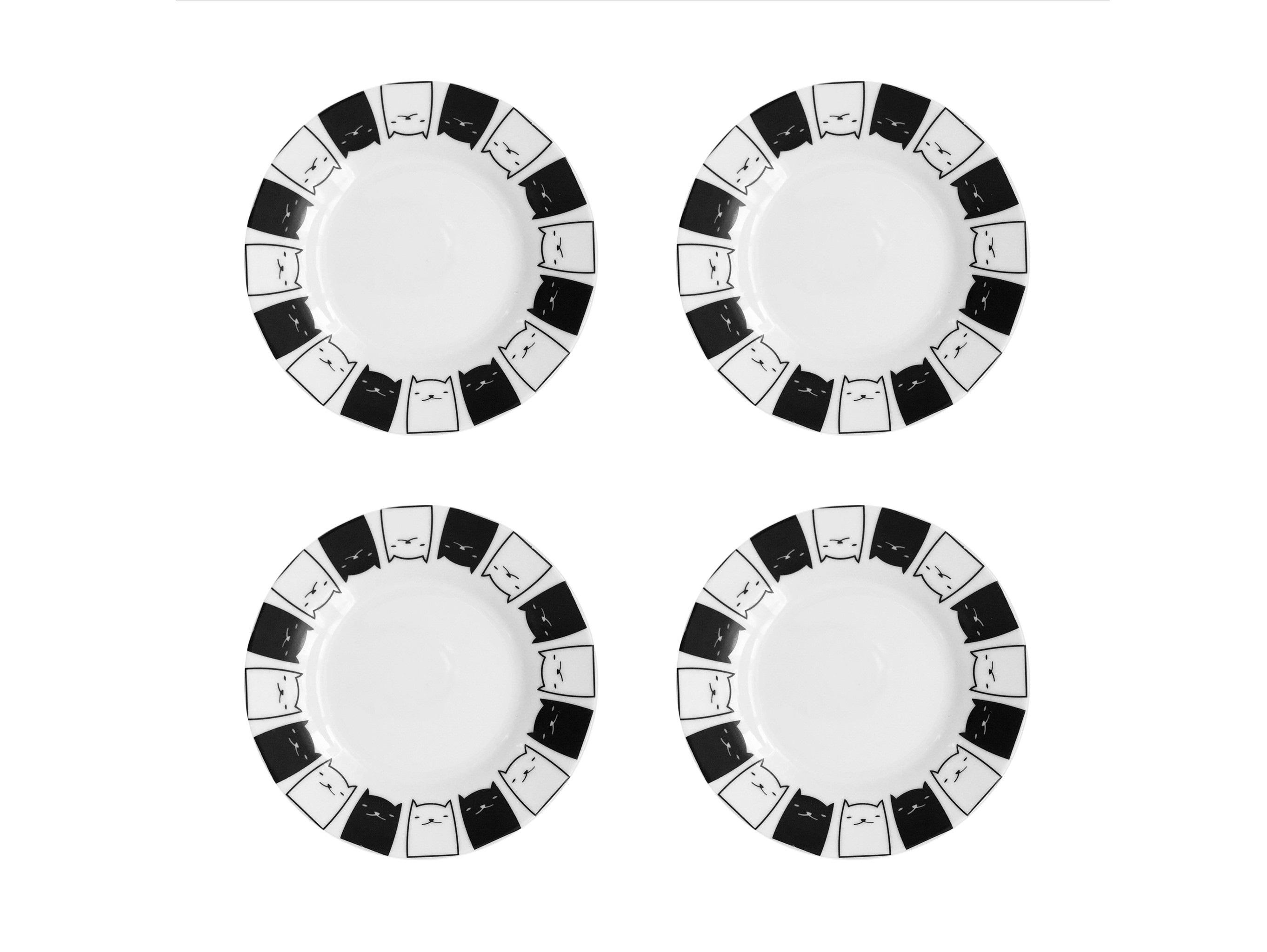 Набор тарелок Котята (4 шт)Тарелки<br>Посуду можно использовать в микроволновой печи и посудомоечной машине.&amp;amp;nbsp;&amp;lt;div&amp;gt;В комплект входят: Тарелка 20 см - 4 шт.&amp;lt;br&amp;gt;&amp;lt;/div&amp;gt;<br><br>Material: Фарфор<br>Diameter см: 20