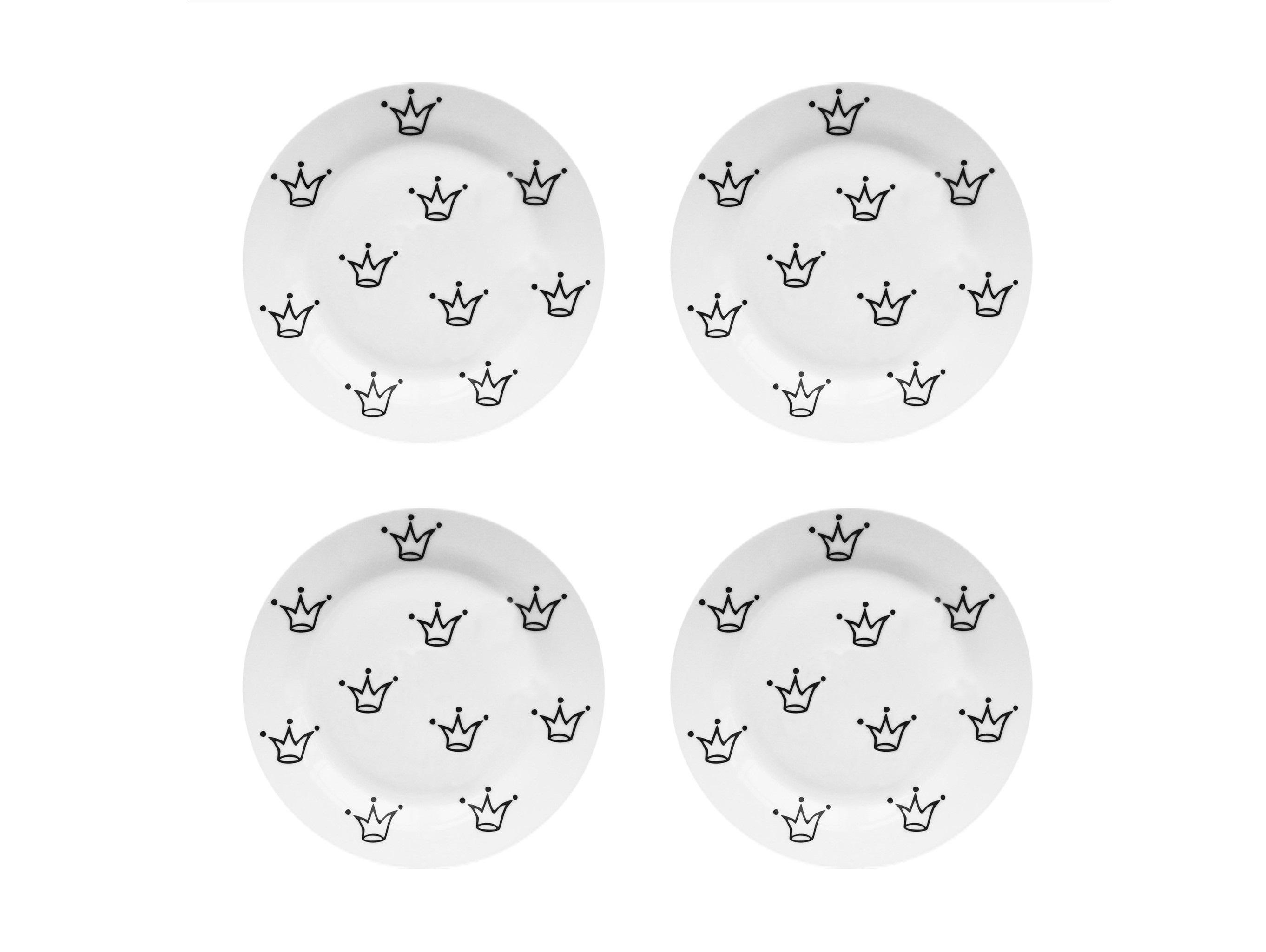 Набор тарелок My Little Crown Vol.2 (4 шт)Тарелки<br>Посуду можно использовать в микроволновой печи и посудомоечной машине.&amp;amp;nbsp;&amp;lt;div&amp;gt;В комплект входят: Тарелка 20 см - 4 шт.&amp;lt;/div&amp;gt;<br><br>Material: Фарфор