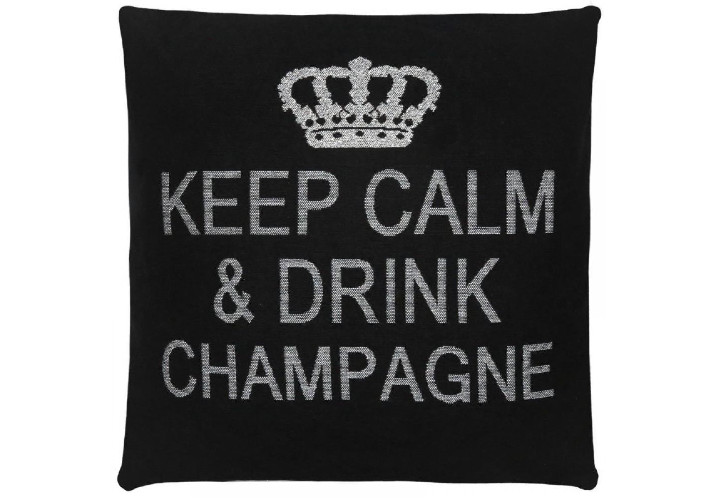 Подушка KC drink champagneКвадратные подушки и наволочки<br><br><br>Material: Хлопок<br>Length см: None<br>Width см: 45<br>Height см: 45