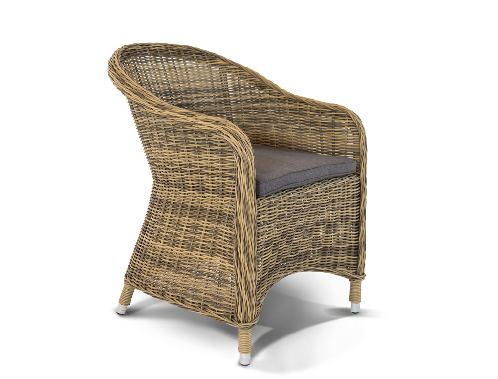 Кресло РавеннаКресла для сада<br>&amp;lt;div&amp;gt;&amp;lt;div&amp;gt;Кресло Равенна из искусственного ротанга оригинальной формы с подлокотниками. Кресло комплектуется подушкой со съемным чехлом серо-коричневого цвета для максимального комфорта. Каркас изделия выполнен из прочного алюминия, ножки оплетены ротангом, что гарантирует продолжительный срок службы модели. В солнечных лучах плетение приобретает более светлый и яркий оттенок. Кресло Равенна - оригинальное сочетание природных мотивов, современного стиля и практичности. &amp;amp;nbsp;&amp;lt;/div&amp;gt;&amp;lt;div&amp;gt;&amp;lt;br&amp;gt;&amp;lt;/div&amp;gt;&amp;lt;div&amp;gt;Материал: алюминиевый каркас, искусственный ротанг.&amp;amp;nbsp;&amp;lt;/div&amp;gt;&amp;lt;/div&amp;gt;&amp;lt;div&amp;gt;&amp;lt;span style=&amp;quot;font-size: 14px;&amp;quot;&amp;gt;Стул в комплекте с подушками.&amp;lt;/span&amp;gt;&amp;lt;br&amp;gt;&amp;lt;/div&amp;gt;&amp;lt;br&amp;gt;<br>&amp;lt;iframe width=&amp;quot;530&amp;quot; height=&amp;quot;360&amp;quot; src=&amp;quot;https://www.youtube.com/embed/c_Pi-3fcpvY&amp;quot; frameborder=&amp;quot;0&amp;quot; allowfullscreen=&amp;quot;&amp;quot;&amp;gt;&amp;lt;/iframe&amp;gt;<br><br>Material: Искусственный ротанг<br>Ширина см: 68<br>Высота см: 81<br>Глубина см: 57