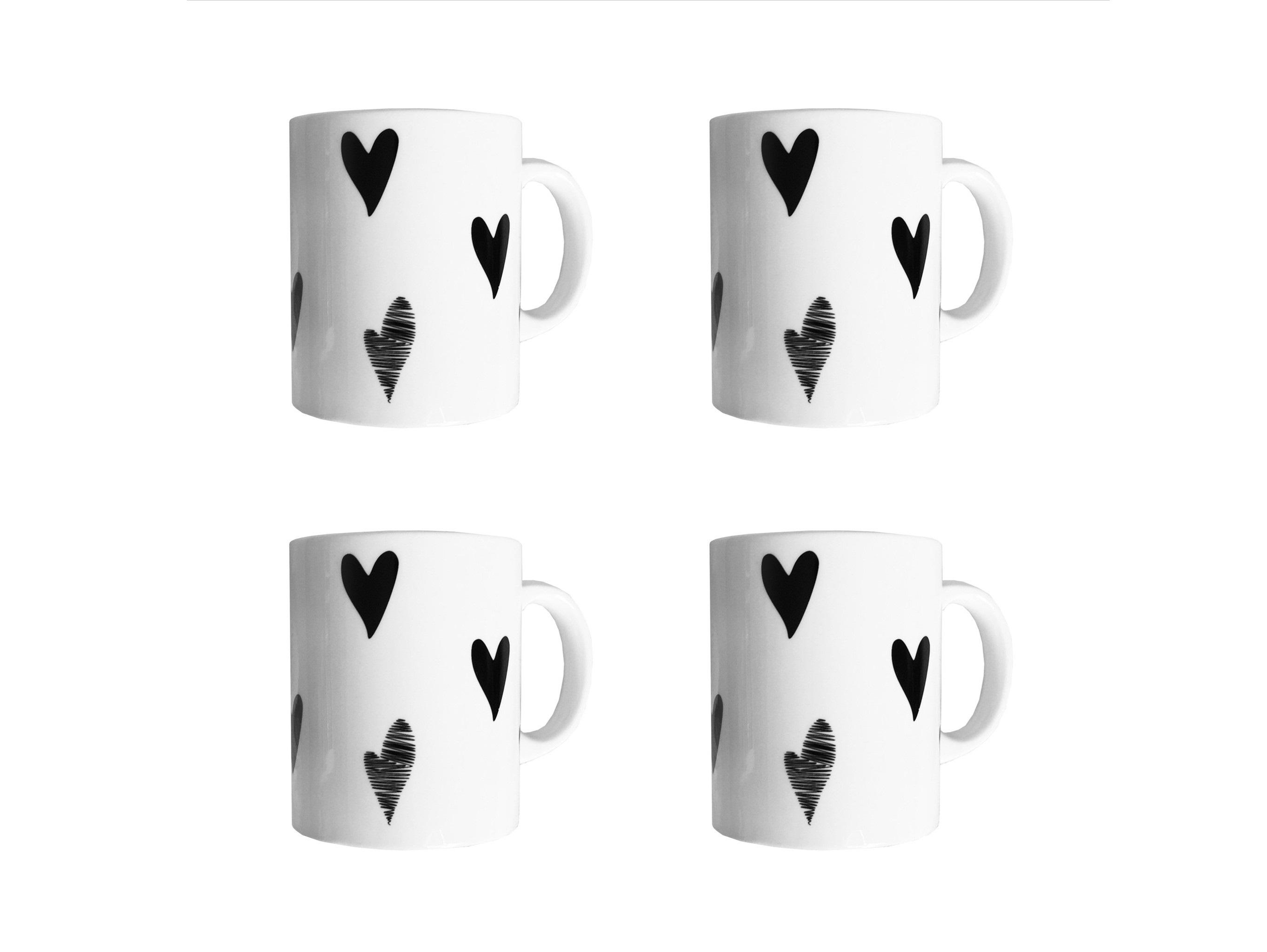 Набор кружек Маленькое сердце Vol.2 (4 шт)Чайные пары, чашки и кружки<br>Посуду можно использовать в микроволновой печи и посудомоечной машине.&amp;amp;nbsp;&amp;lt;div&amp;gt;&amp;lt;br&amp;gt;&amp;lt;/div&amp;gt;&amp;lt;div&amp;gt;В комплект входят: Кружка 300 мл - 4 шт.&amp;lt;/div&amp;gt;<br><br>Material: Фарфор<br>Высота см: 9