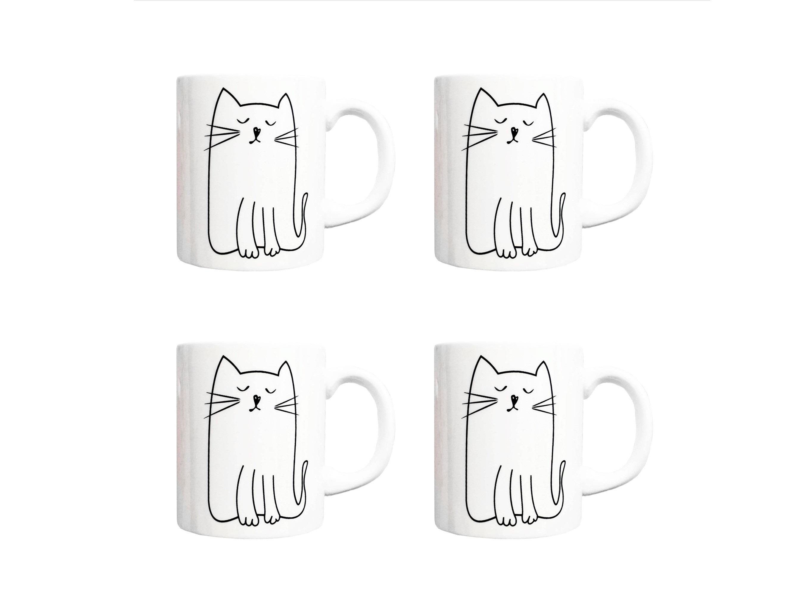 Набор кружек Киска(4 шт)Чайные пары, чашки и кружки<br>Посуду можно использовать в микроволновой печи и посудомоечной машине.&amp;amp;nbsp;&amp;lt;div&amp;gt;&amp;lt;br&amp;gt;&amp;lt;/div&amp;gt;&amp;lt;div&amp;gt;В комплект входят: Кружка 300 мл - 4 шт.&amp;lt;/div&amp;gt;<br><br>Material: Фарфор<br>Высота см: 9