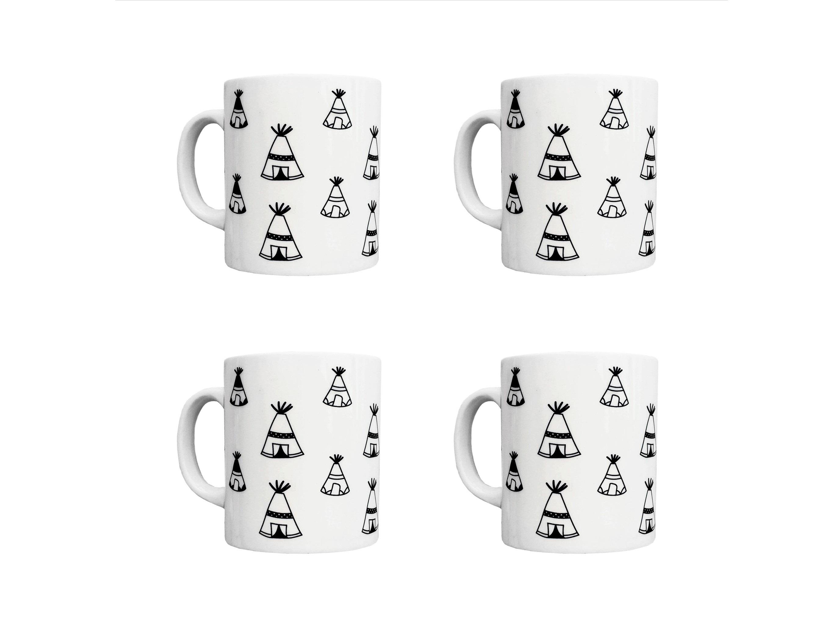 Набор кружек Вигвам (4 шт)Чайные пары, чашки и кружки<br>Посуду можно использовать в микроволновой печи и посудомоечной машине.&amp;amp;nbsp;&amp;lt;div&amp;gt;&amp;lt;br&amp;gt;&amp;lt;/div&amp;gt;&amp;lt;div&amp;gt;В комплект входят: Кружка 300 мл - 4 шт.&amp;lt;/div&amp;gt;<br><br>Material: Фарфор<br>Высота см: 9