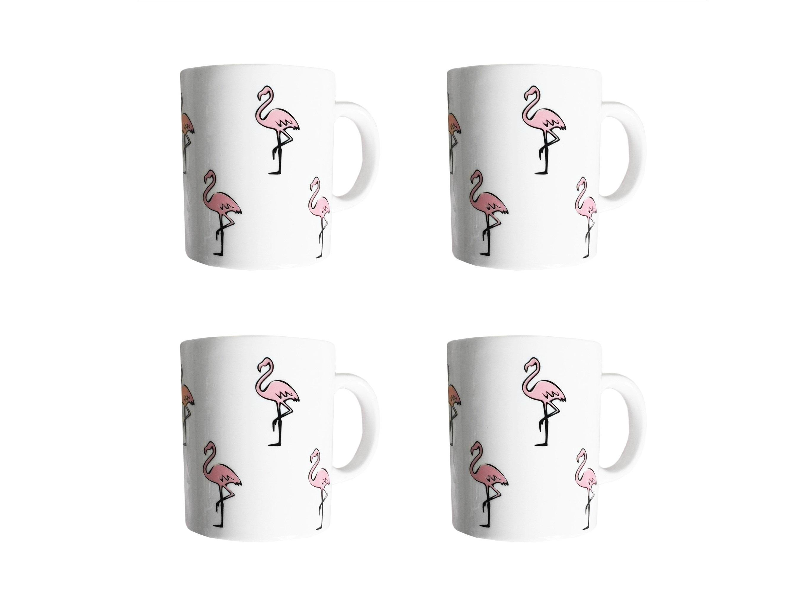 Набор кружек Розовый фламинго (4 шт)Чайные пары, чашки и кружки<br>Посуду можно использовать в микроволновой печи и посудомоечной машине.&amp;amp;nbsp;&amp;lt;div&amp;gt;&amp;lt;br&amp;gt;&amp;lt;/div&amp;gt;&amp;lt;div&amp;gt;В комплект входят: Кружка 300 мл - 4 шт.&amp;lt;/div&amp;gt;<br><br>Material: Фарфор<br>Высота см: 9