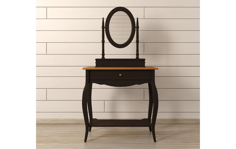 Туалетный столик Leontina BlackТуалетные столики<br>Материал: массив березы, массив ясеня.<br><br>Material: Береза<br>Width см: 70<br>Depth см: 40<br>Height см: 142