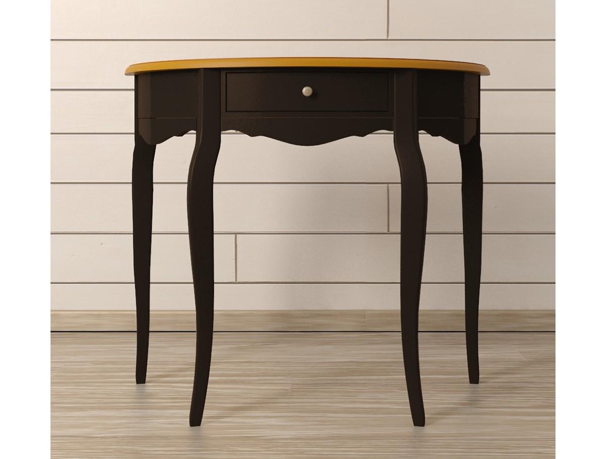 Туалетный столик Leontina BlackТуалетные столики<br>Материал: массив березы, массив ясеня.<br><br>Material: Береза<br>Width см: 90<br>Depth см: 35<br>Height см: 78